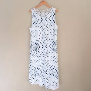 J.JILL PureJill Cream Diamond Tie Dye Dress